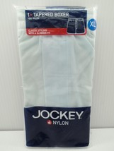 Jockey Tapered Boxer 100% Nylon Underwear Light Blue Solid X-Large 40-42 XL - $39.99