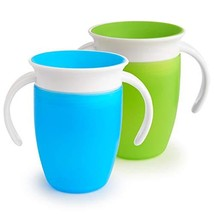 Munchkin Miracle 360 Trainer Cup, Green/Blue, 7 Ounce, 2 Count - $16.89