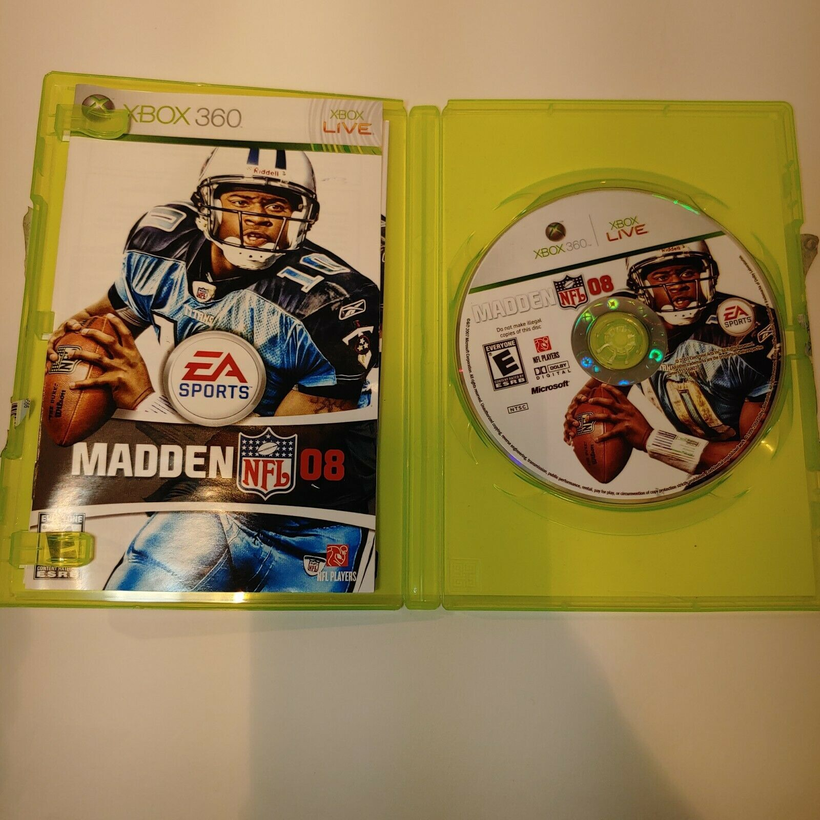 Madden NFL 08 Microsoft Xbox 360 - 2007 FREE SHIPPING