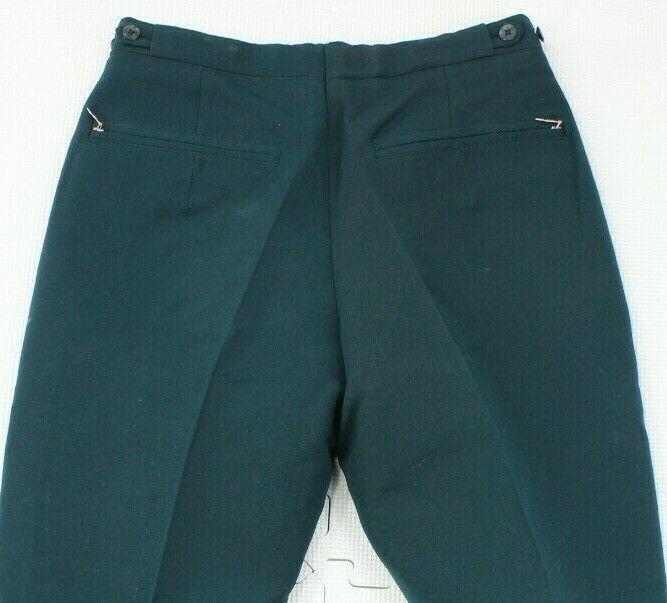 Vintage Bogner Womens Green Wool Blend Ski Snow Pants Sz 30 Regular Stirrup
