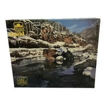 """Vintage 1994 Golden Guild 1500 Piece Jigsaw Puzzle Slide Rock 27""""x 33"""" S... - $24.99"""