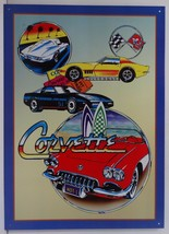 Corvette Collage Chevrolet Car Metal Sign - $19.95