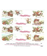 Southern NJ Chest Health Assoc Christmas 12 MNH Charity Poster Stamp Seal - £8.16 GBP