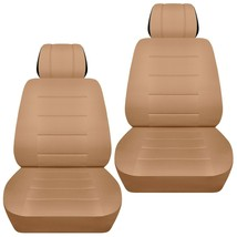 Front set car seat covers fits Chevy Spark  2013-2020  solid tan - $65.09+