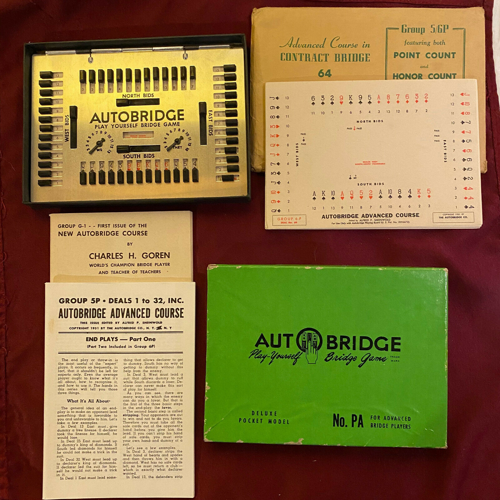 Primary image for Vintage Autobridge Play-Yourself Bridge Game with Extra Hands Sheets & Scoring