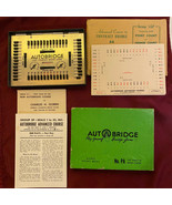 Vintage Autobridge Play-Yourself Bridge Game with Extra Hands Sheets & S... - $24.89