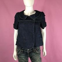 Anthropologie Freedom of Choice Jean Jacket XS Blue Denim Short Sleeve Crop - $29.69