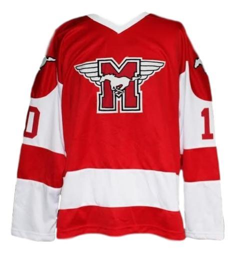 Youngblood movie hamilton mustangs hockey jersey red  1