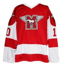 Custom Name # Youngblood Movie Hamilton Mustangs Hockey Jersey New Red Any Size image 1