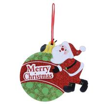 (04)Merry Christmas Shaped Hanging Letters Snowman Santa Claus Pendant C... - $14.00