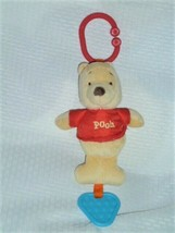 Winnie the Pooh Baby Toy Ring Link Clip On Take Along Stuffed Plush Teether - $22.76