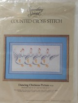 "Dancing Chicken Picture Cross Stitch Kit Something Special Unopened 10"" x 17"" - $9.74"