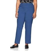 Anne Klein Women's Plus Mid-Rise Cotton Double Weave Slim Pants Rain Sha... - $19.99