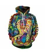 Stylish Psychedelic Winter Hoodie Warm Hooded Sweatshirt Coat Jacket Swe... - $26.99