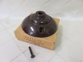 "Vintage Bakelite Brown Pendant Cover 3 1/4"" New in Box Old Stock No. 882 - $9.74"