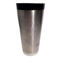 2010 Starbucks Stainless Steel Mermaid Logo 16 oz Tumbler Travel Mug Sli... - $30.00
