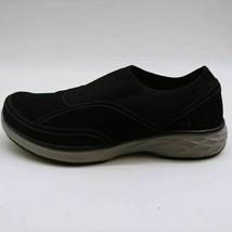 Ryka Womens Talia Slip On Sneaker Shoes Black Gray Leather Mesh Low Top 7W - $39.59