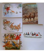 National Wildlife Federation 25 Christmas Cards/ Envelopes 5 Designs 1989 - $24.74