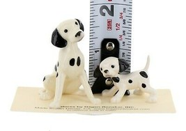 Hagen Renaker Dog Dalmatian Papa and Puppy Ceramic Figurine Set image 2