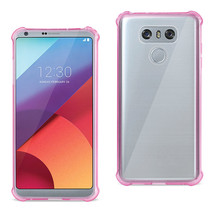 REIKO LG G6 CLEAR BUMPER CASE WITH AIR CUSHION SHOCK ABSORPTION IN CLEAR... - $7.94