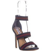 Steve Madden Carina Heeled Sandals, Navy/Burgundy, 5.5 US - $32.63