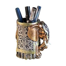 Resin Pencil Holder Desk Organizer Elephant Head - $27.60