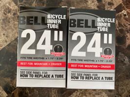 """LOT OF 2  BIKE TIRE INNER TUBES 24 """" UNIV, Bell , UPC: 035011000695 - $18.76"""