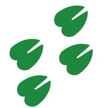 LiteMark 4 Inch Green Hoof Prints - Pack of 18 - $19.95