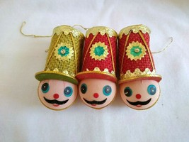 Vintage Set Of 3 Toy Soldier Christmas Ornaments MCM - $19.80