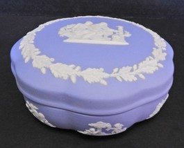 Vintage Powder Blue Wedgwood Powder Trinket Box - $47.49