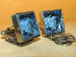 Cufflinks Cuff Links Glass Roman Soldier Intaglio silver tone poss Venic... - $112.49