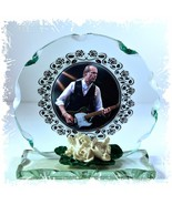 Francis Rossi  'Status Quo' Cut Glass Round Plaque Limited Edition #1 - $34.64