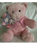 TAGGIES Mary Meyer Baby Pink Plush Stuffed Teddy BEAR w/ Blanket Lovey N... - $14.84