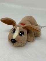 "Mattel Pound Puppy Plush Mini 2004 Tan Soft Stuffed Animal 6"" Dog in Red... - $12.50"