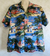 RJC Made in Hawaii Men's Hawaiian Shirt Surf Boards Willis Jeep Ocean Si... - $18.69