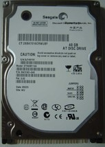 "New Seagate ST9408114A 40GB 2.5"" IDE 44PIN Drive Free USA Ship Our Drives Work"