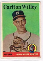 1958 Topps #407 Carl Willey  RC Milwaukee Braves  - $11.87