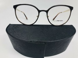 New Authentic Prada VPR 53T DHO-1O1 Brown & Gold Eyeglasses 50/19/135 wi... - $87.44
