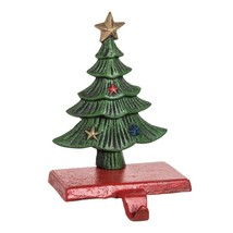 """GALLERIE II 8.7"""" CAST IRON HAND PAINTED CHRISTMAS TREE STOCKING HOLDER H... - $24.88"""