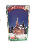 Dickensville Collectables City Hall Porcelain Lighted House 1989 - $19.69