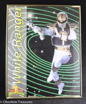 Vtg 1994 Mighty Morphin Power Rangers Framed Poster Tommy White Ranger 1... - $49.99