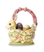 Heartwood Creek Bunny Basket with 4 Eggs Figurine - $55.99