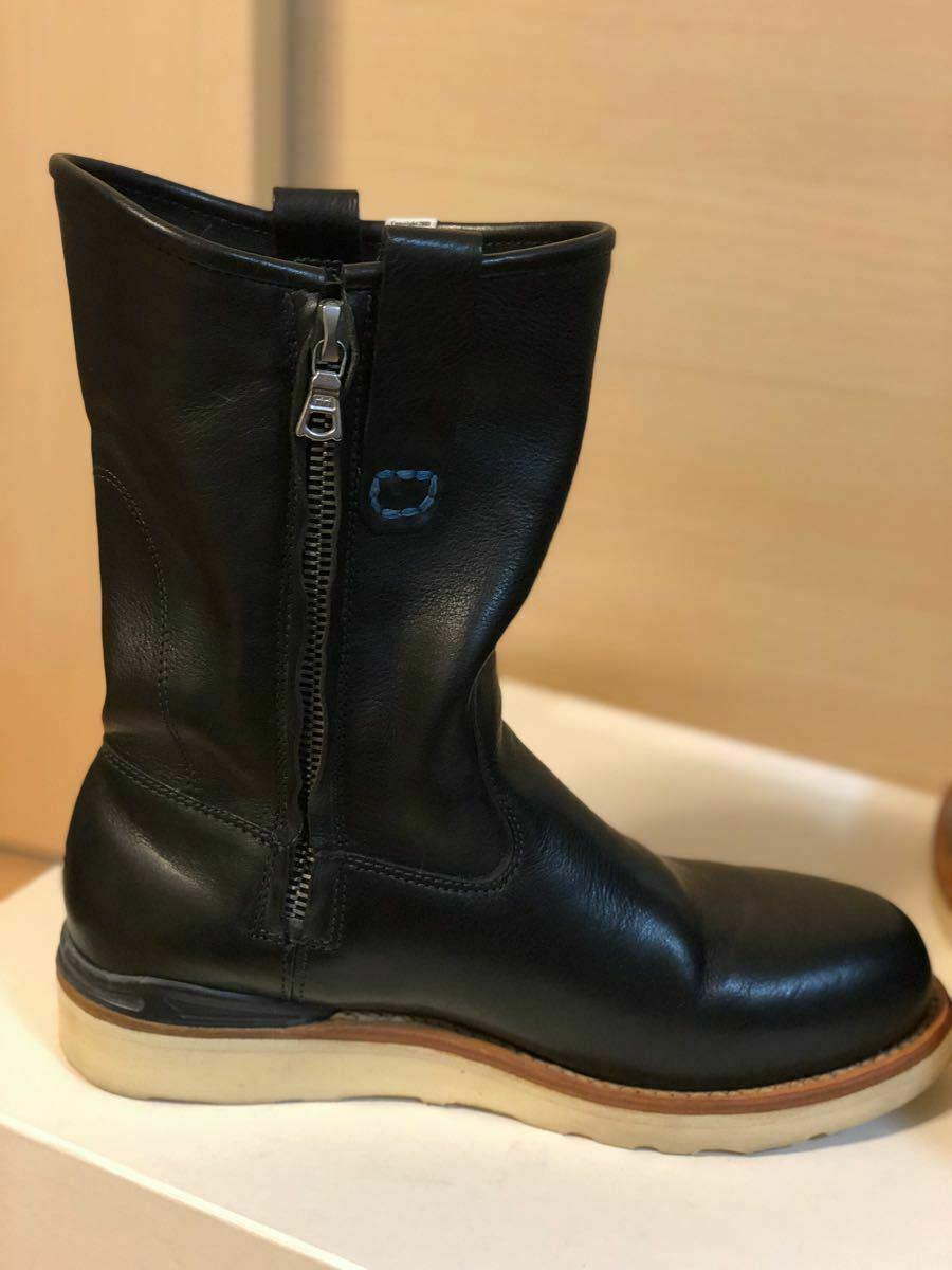 FIL limited 1st model visvim WABANAKI BOOTS-FOLK US8 BLACK Pecos boots image 6