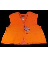 Blaze Orange Hunting Vest Unisex Large L Sports Afield Game Bag Pockets ... - $16.95