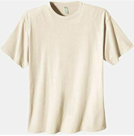 Econscious T-Shirt Men's LARGE Short Sleeve Tee Organic Cotton 1000-Natural New