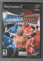 Smack Down vs. Raw 2007 PS2 Playstation 2 Video Game Case and Manual (No Disc) - $8.99