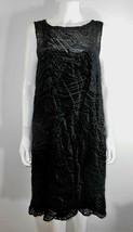 Alfani Black Velvet Burnout Art Deco Sleeveless Dress Layered Lagenlook ... - $56.43