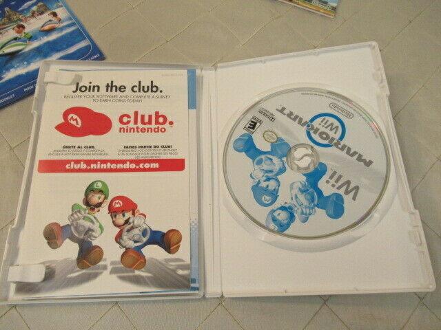 Nintendo Mario Kart Wii Video Game 2008 Complete w/ Wheel