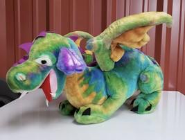 "Melissa & Doug Huge Jumbo Winged Dragon Plush 40""X 18"" Stuffed Magic Rainbow - $37.62"