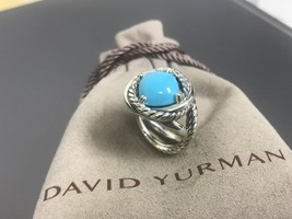 David Yurman Infinity Ring with Turquoise 11mm Size 6.5 - $299.99